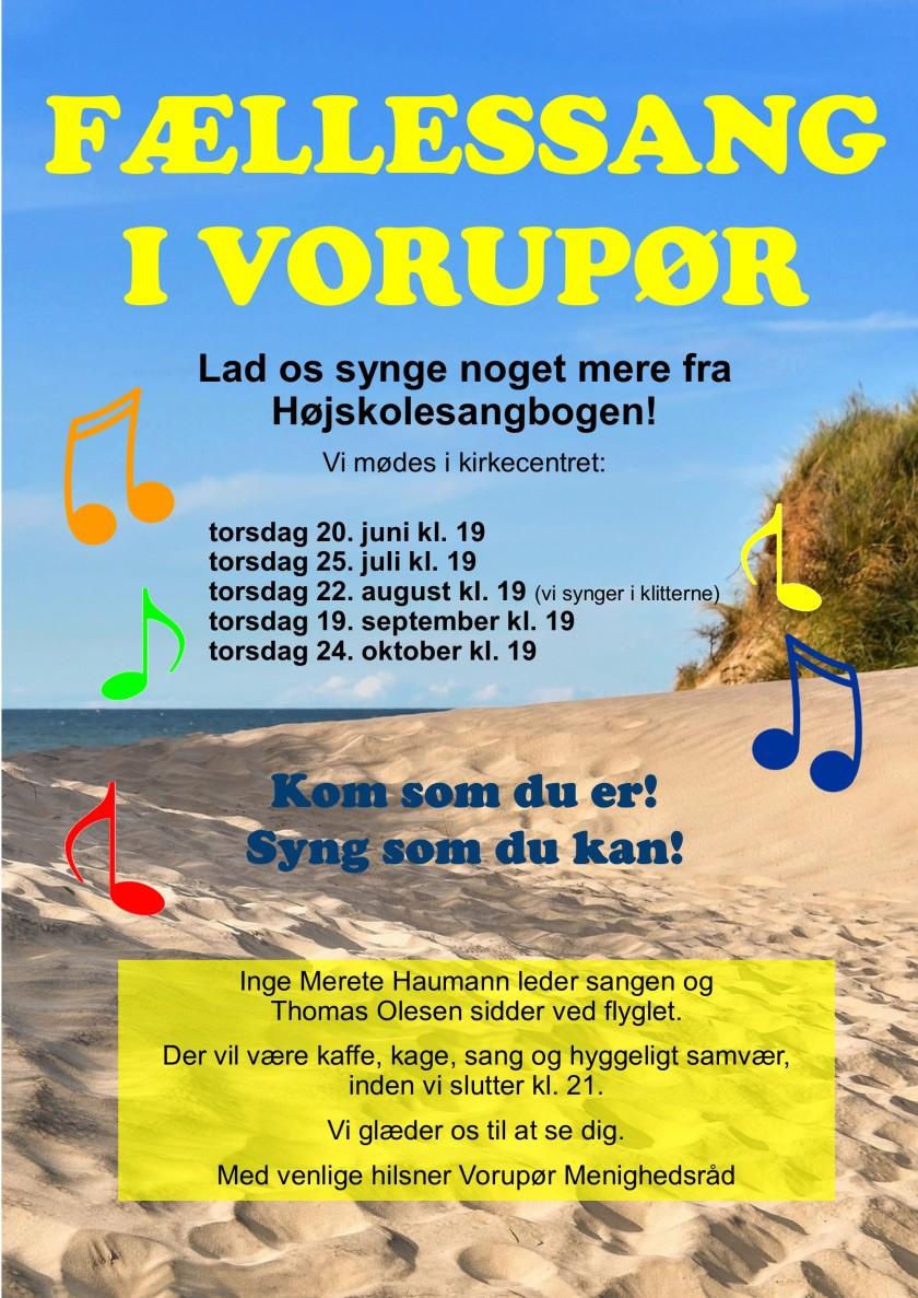 1905 Fællessang i Vorupør (sommer 19)